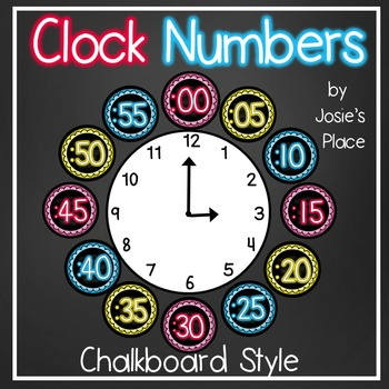Clock Numbers Chalkboard Style