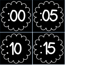 Clock Numbers-Color and Black and White