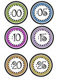 Clock Numbers- Colorful