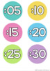 Clock Numbers Display {Rainbow Classroom Decor}