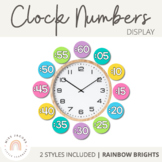 Clock Numbers Display {Rainbow Classroom Decor}