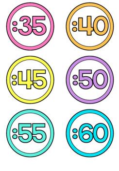 Clock Numbers Display | Tropical Theme