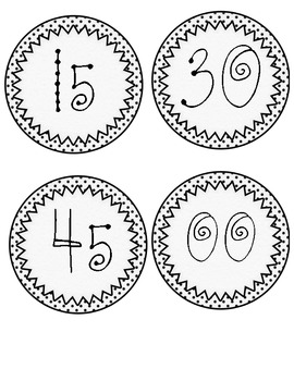 Clock Numbers - Funky Fonts