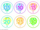 Clock Numbers {Hot Air Balloon Theme}