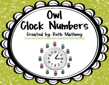 Clock Numbers – Owls