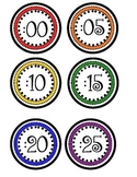 Clock Numbers- Primary Colors