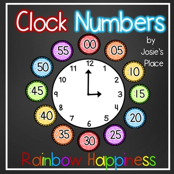 Clock Numbers Rainbow Happiness