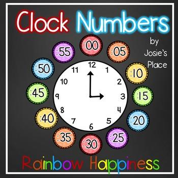 Clock Numbers Rainbow Happiness