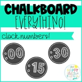 Clock Numbers - Simple, Chalkboard-themed