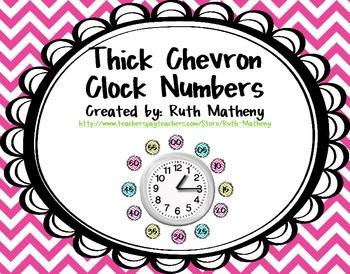 Clock Numbers – Thick Chevron