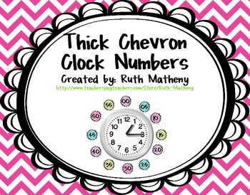 Clock Numbers – Thick Chevron
