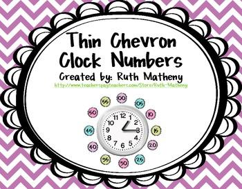 Clock Numbers – Thin Chevron