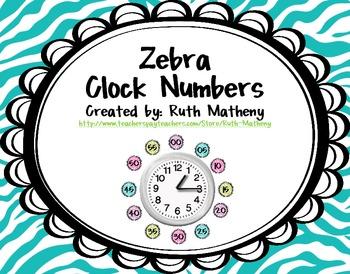 Clock Numbers – Zebra