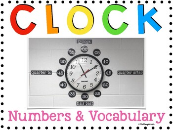 Clock Numbers and Vocabulary