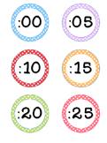 Clock Numbers for you Analog Clock Polka Dot Theme