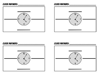 Clock Partners Cards