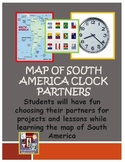 Clock Partners ~ Map of South America