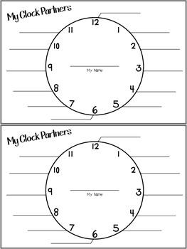 Clock Partners Student Sheet