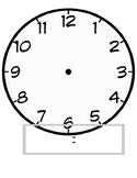 Clock Playdough Map