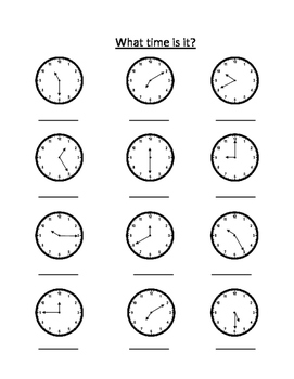 Clock Practice By Erin Gunderson Teachers Pay Teachers