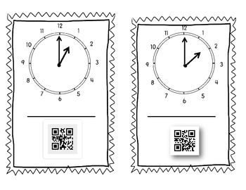 Clock Practice Telling Time with QR Codes Common Core