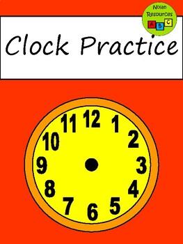 Clock Practice - Worksheets