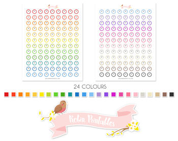 Clock Printable Planner Stickers
