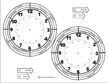 Clock Printable with 5, 10, & 15 Minute Time Segments