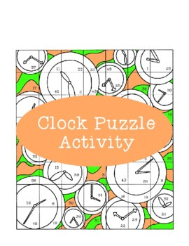 Clock Puzzle Activity Telling Time Analog Cutting Gluing
