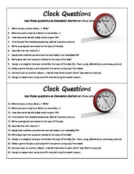 Clock Questions