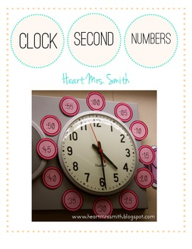 Clock Second Numbers