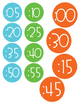 Bright Colored Clock Labels