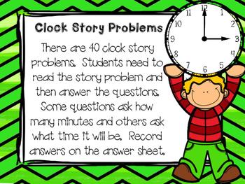 Clock Story Problem Task Cards