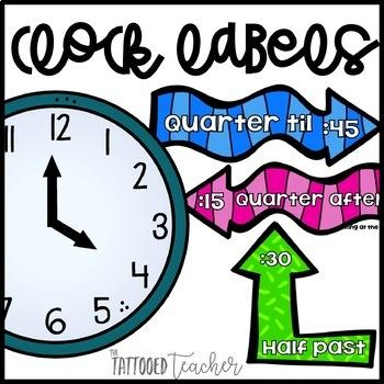 Clock Talk time labels! freebie!