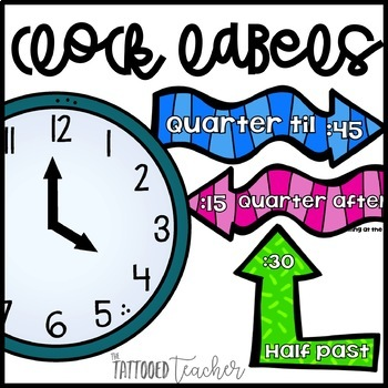 Clock Talk time labels! freebie!