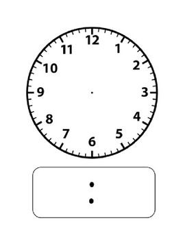 Images for blank clock template clip art library.