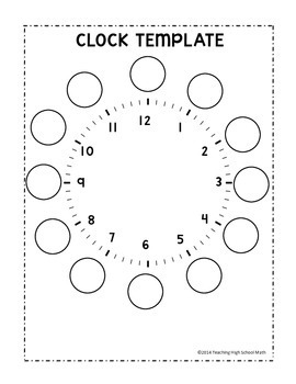 Clock Template - Telling Time Practice - Interactive Notebook