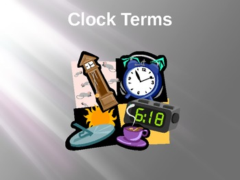 Clock Terms and Elapsed Time PowerPoint