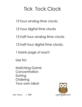 Clock Time Cards