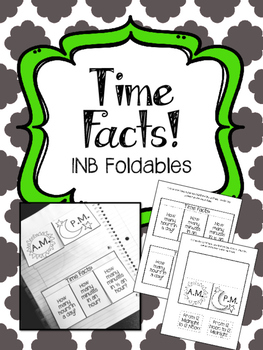 Clock Time Facts. Math Interactive Notebook Foldables.