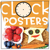 """Clock Time Posters """"When Do We?"""" Lunch Recess Dismissal"""