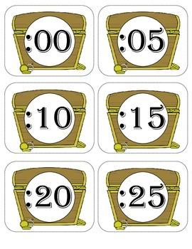 Clock Labels- Pirate Theme