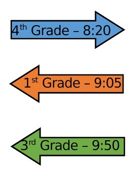 Clock Times Labels - Daily Schedule or Special Area (editable)