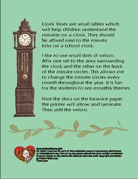 Clock Vines: Minute-hand Labels