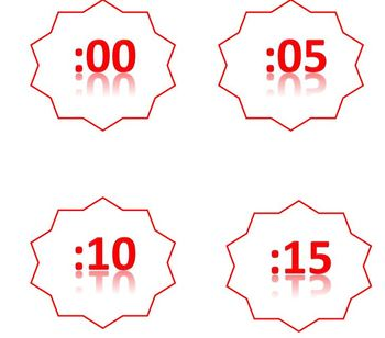Clock Watchers Labels - Red