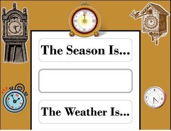 Clock Weather Chart! Clock Bulletin Board! Clock Theme! Ti