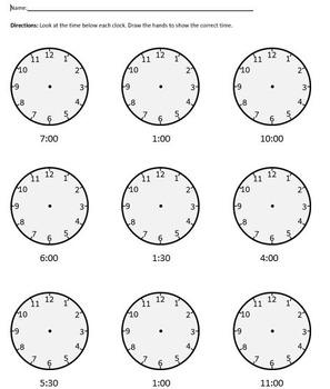 Clock Worksheet - Analog