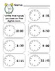 Clock Worksheets Freebie