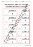 Clock Worksheets (quarter past and quarter to) Part 2