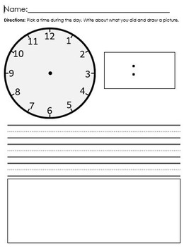 Clock Writing Paper
